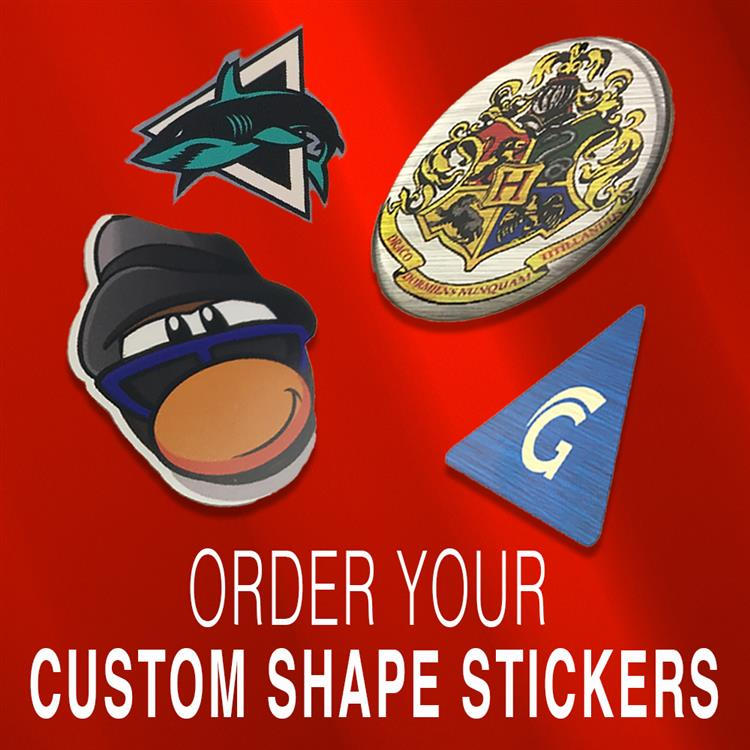 Custom Shaped Stickers Online Stickers International - Order custom stickers online